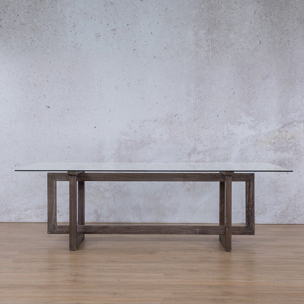 Bolton Glass Dining Table - 2.4m - 8 or 10 Seater