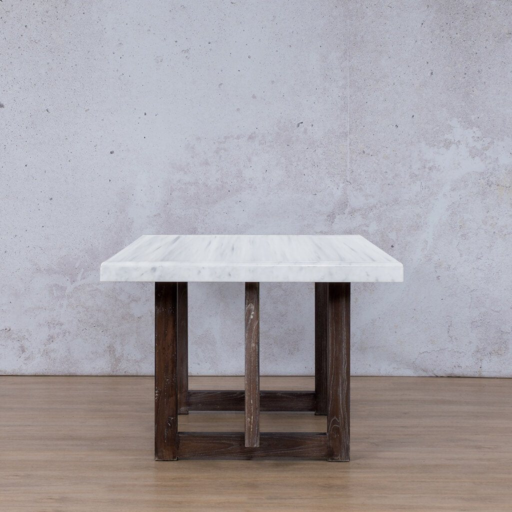 Bolton Marble 6 Seater Dining Table - Antique Coffee