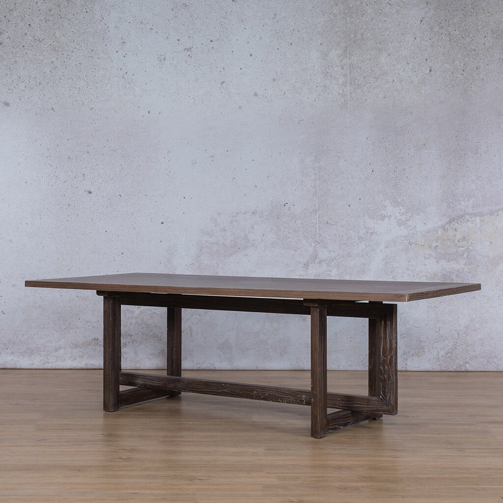 Bolton Wood 8 or 10 Seater Dining Table - Antique Coffee