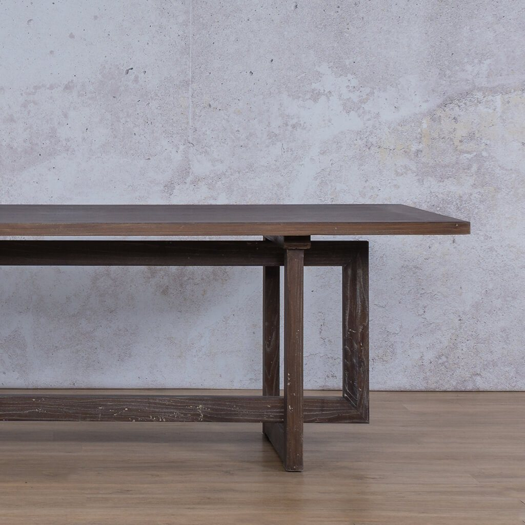 Bolton Wood Dining Table | 2.4m | 8 or 10 Seater | Leather Gallery