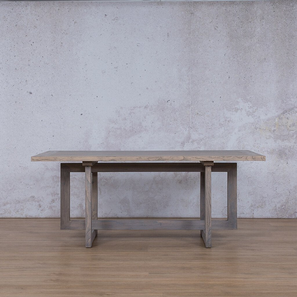 Bolton Wood 6 Seater Dining Table - Antique Grey