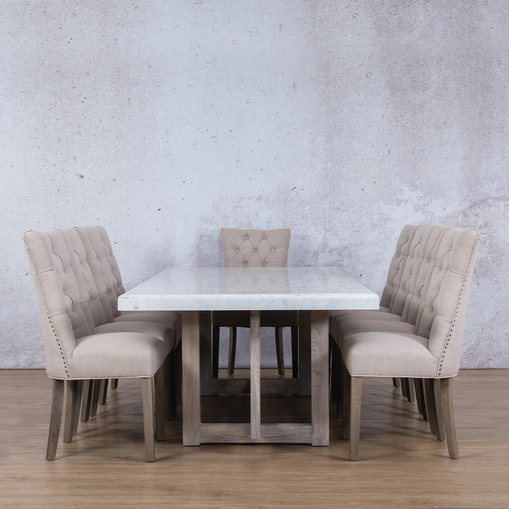 Bolton Marble Top & Duchess 10 Seater Dining Set