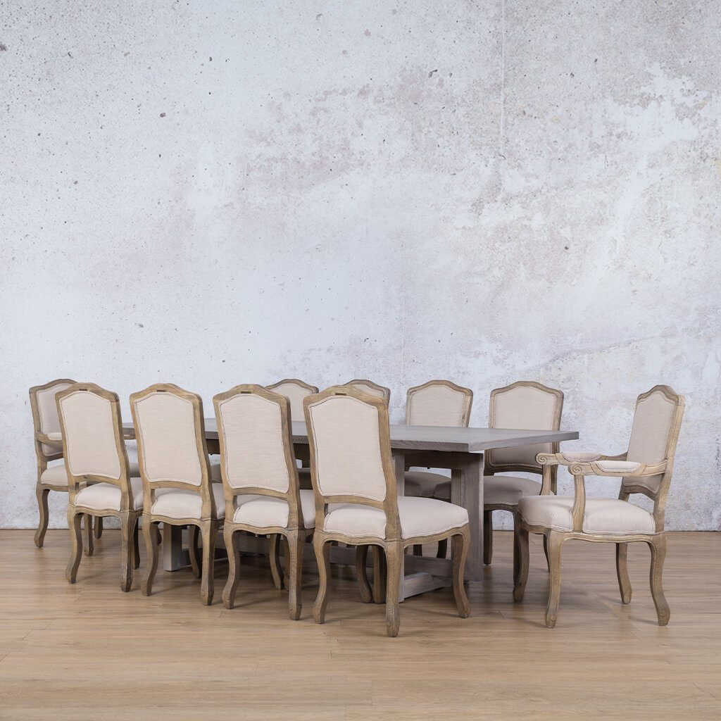 Bolton Wood Top & Duke 10 Seater Dining Set