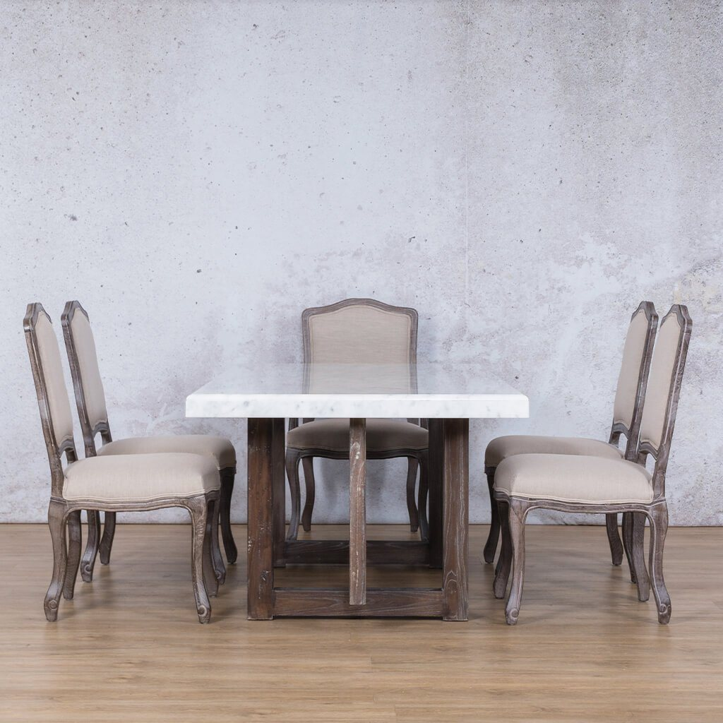 Bolton Marble Top & Duke 6 Seater Dining Set