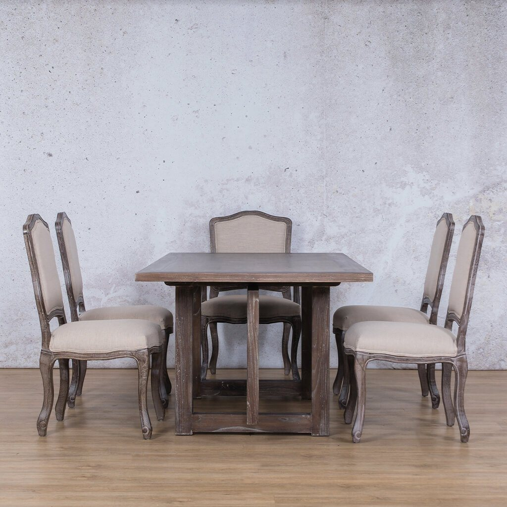 Bolton Wood Top & Duke 6 Seater Dining Set