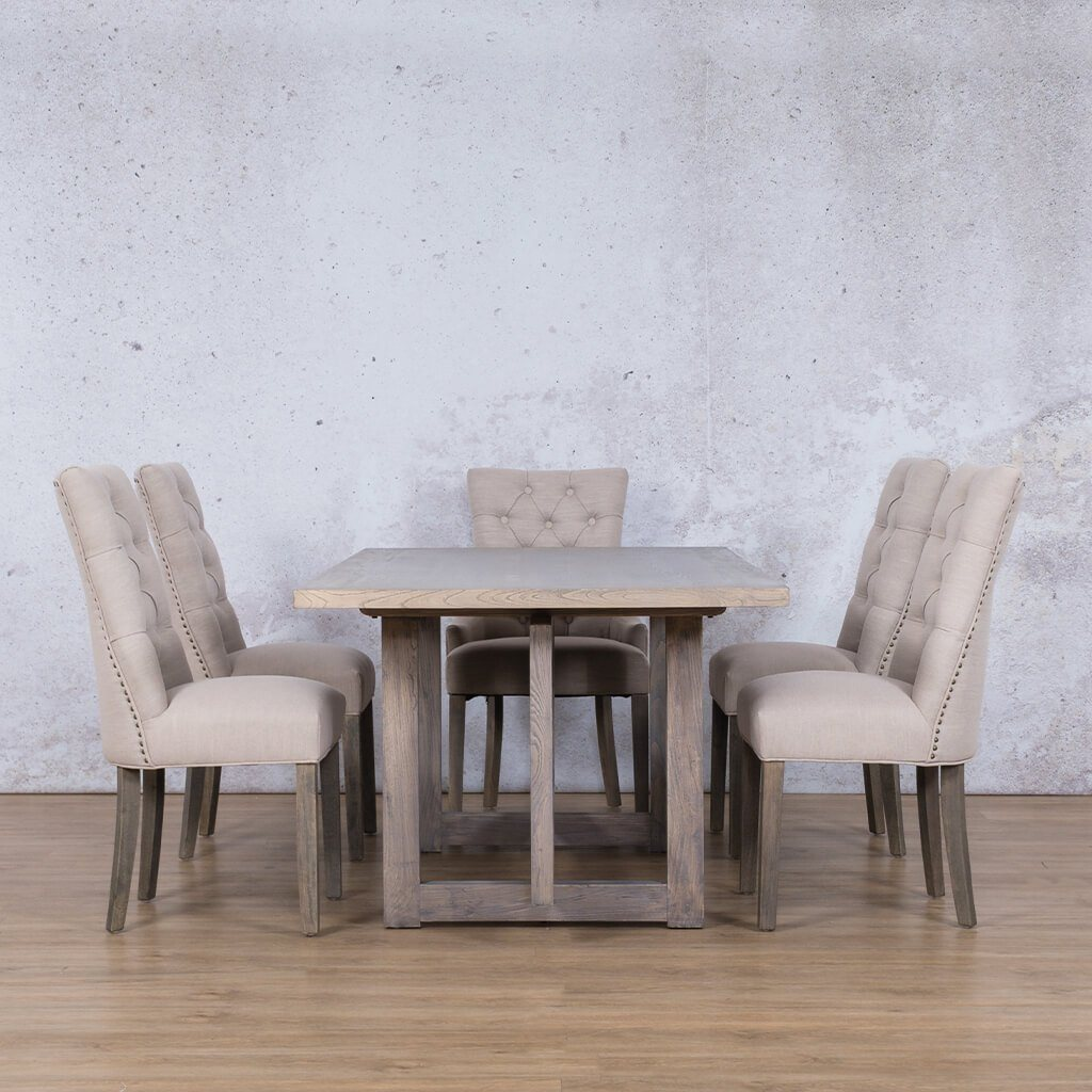 Bolton Wood Top & Duchess 6 Seater Dining Set