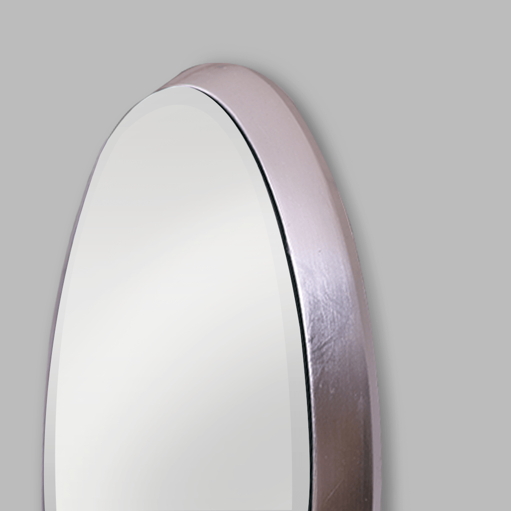 Silver Oval Apollo Mirror