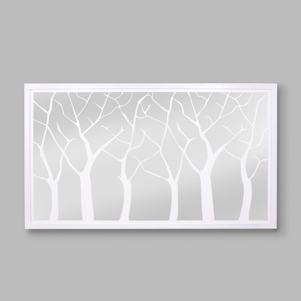 Serengeti Tree Lazer Mirror | Leather Gallery