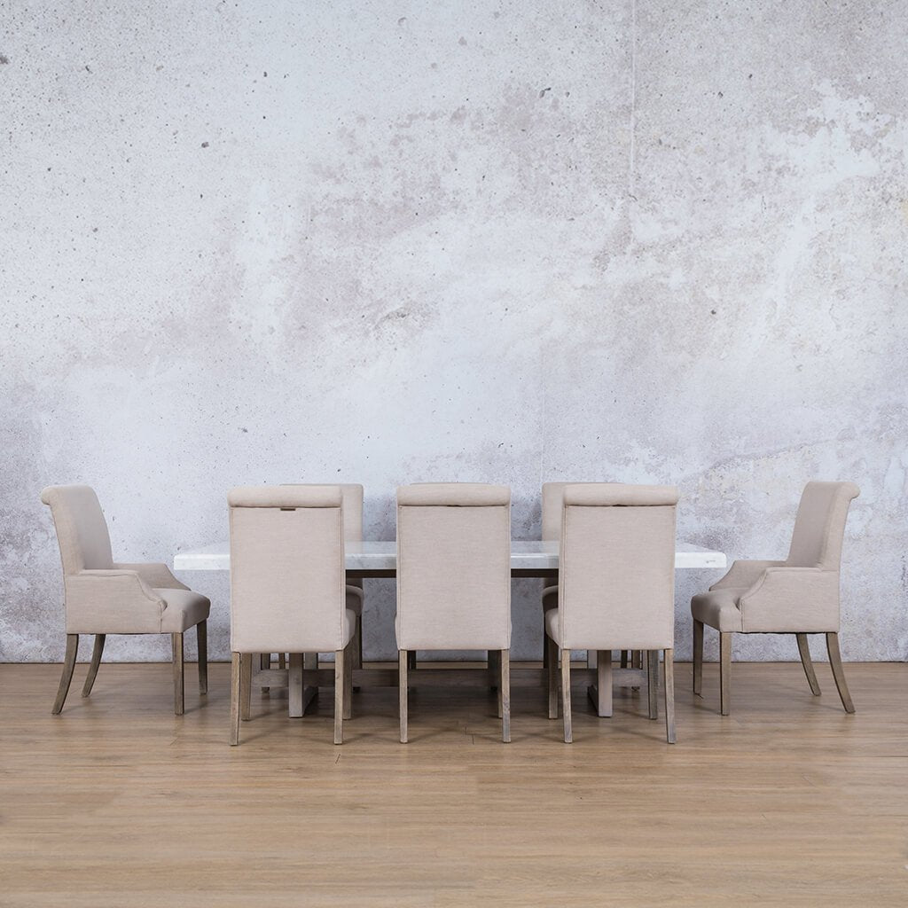 Bolton Marble Top & Baron 8 Seater Dining Set