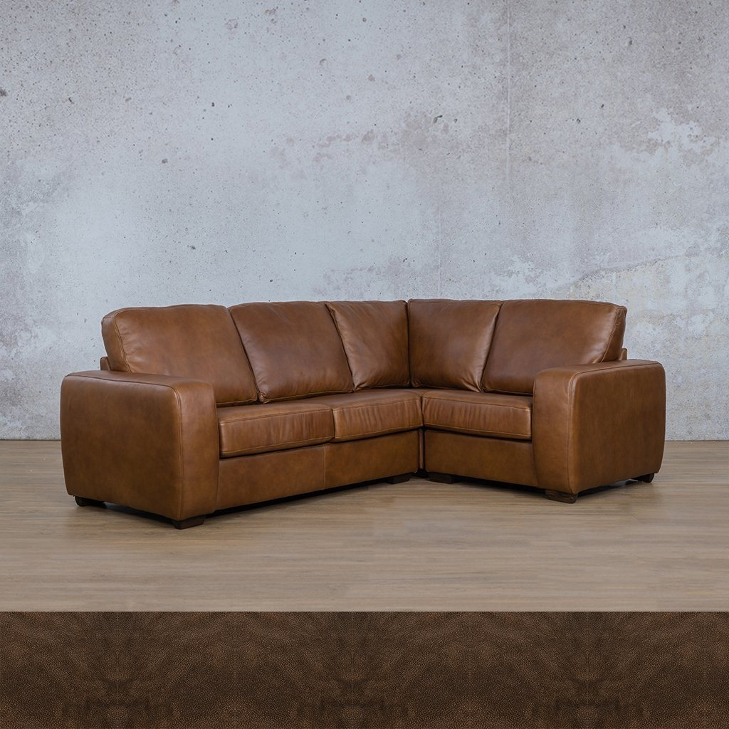 Starnford Leather Corner Couch | L-Sectional 4 Seater-RHF | Czar Pecan | Couches For Sale | Leather Gallery Couches