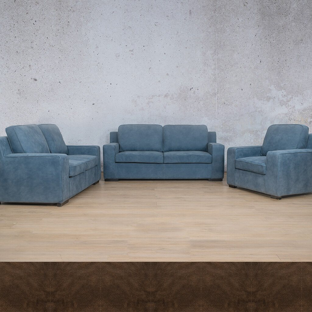 Arizona Leather Couches | 3-2-1 Seater Couches | Couches for Sale | Buffed Brown | Leather Gallery Couches