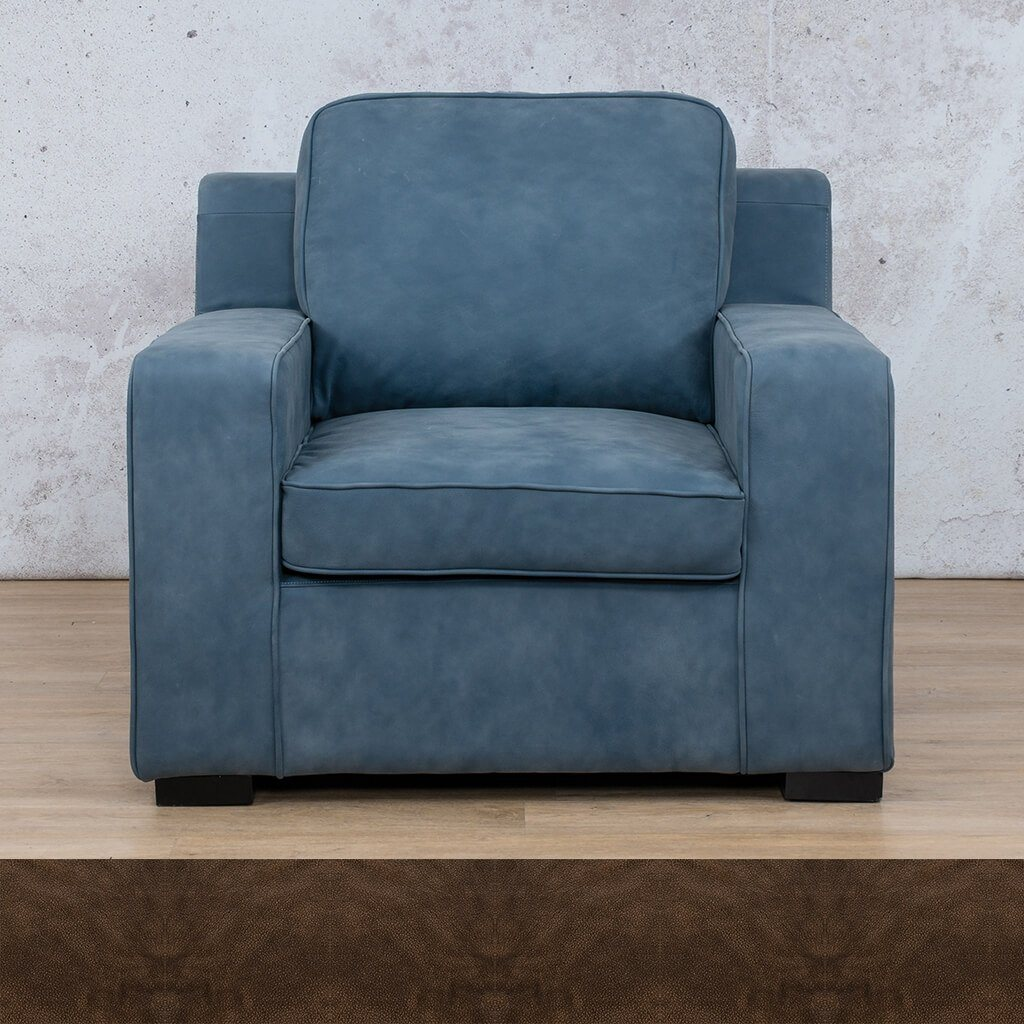 Arizona Leather | 1 Seater | Buffed Brown | Leather Gallery