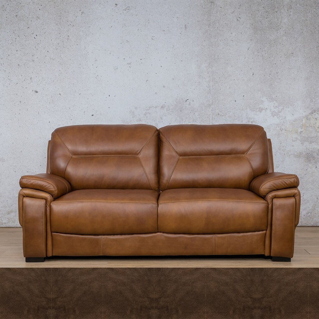 San Lorenze Leather Couch | 3 Seater Couch | Couches for Sale | Buffed Brown | Leather Gallery Couches