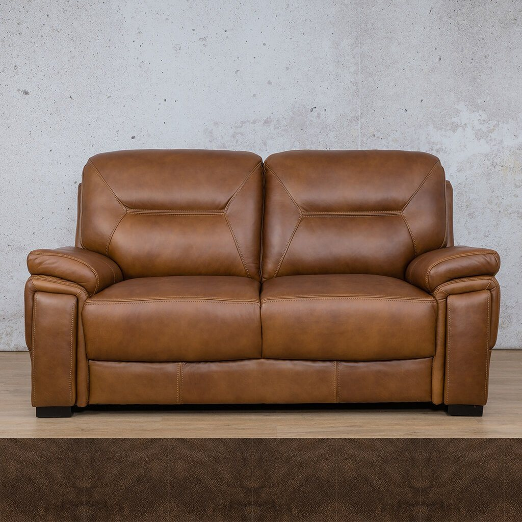San Lorenze Leather Couch | 2 Seater Couch | Couches for Sale | Buffed Brown | Leather Gallery Couches