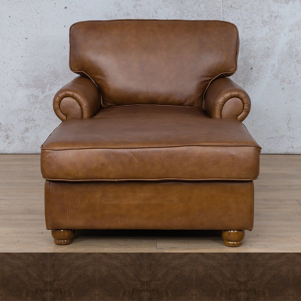 Salisbury Leather Corner Couch | 2 Arm Chaise | Buffed Brown | Couches For Sale | Leather Gallery Couches