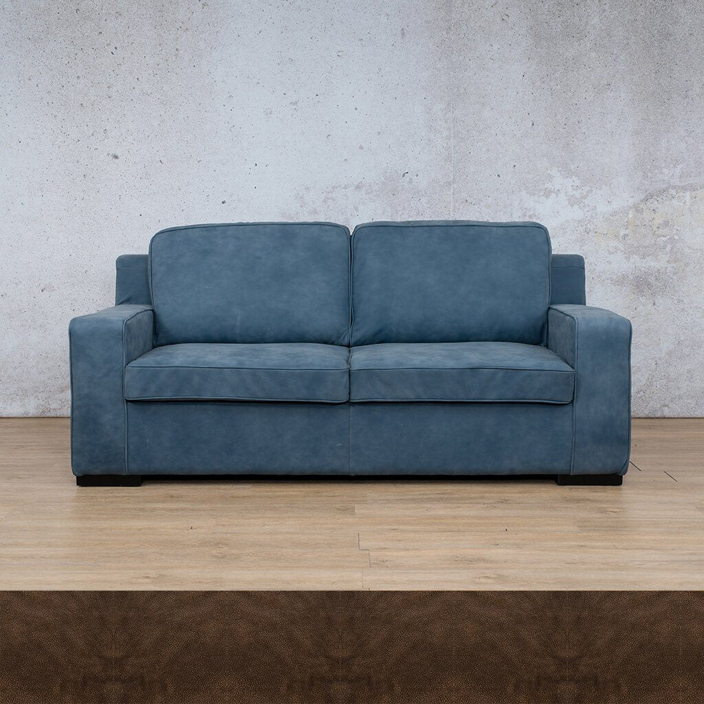 Arizona Leather Couch | 3 seater couch | Buffed Brown | Couches for Sale | Leather Gallery Couches