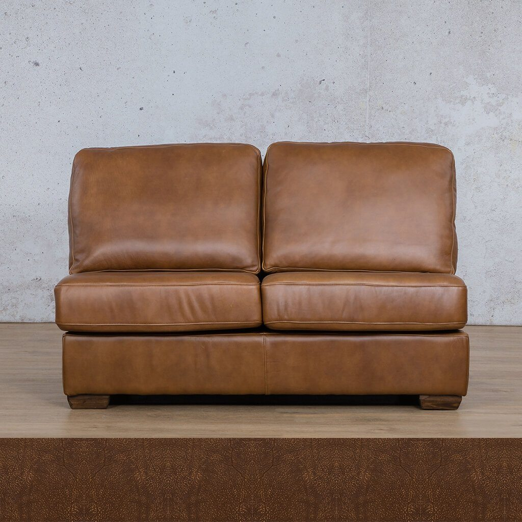 Stanford Leather Armless 2 Seater
