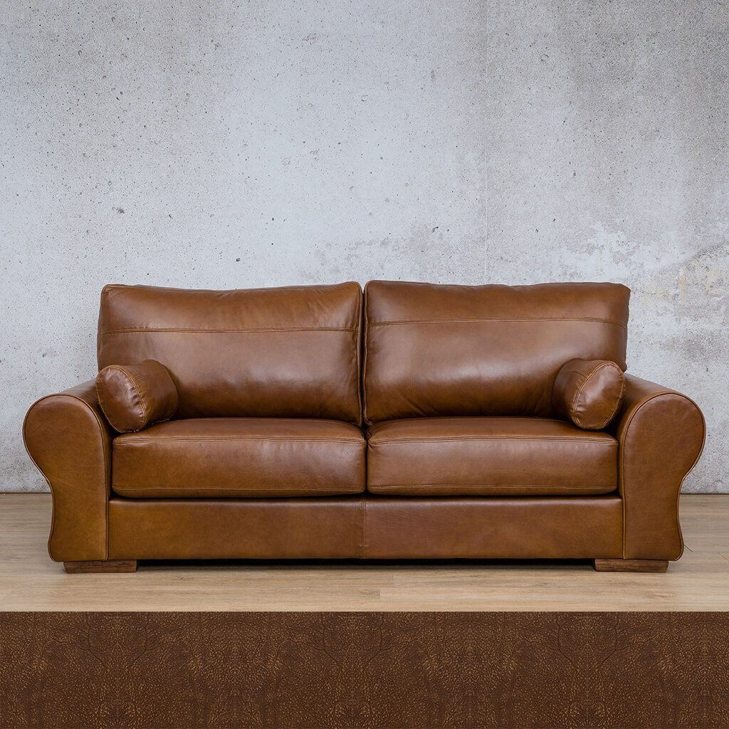 Carolina Leather Couch | 3 Seater Couch | Couches for Sale | Buffed Fudge | Leather Gallery Couches