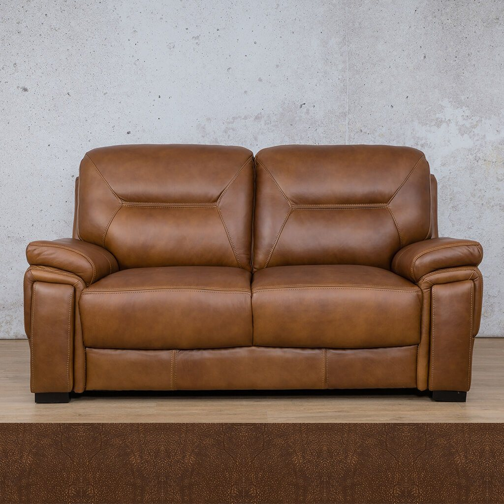San Lorenze Leather Couch | 2 Seater Couch | Couches for Sale | Buffed Fudge | Leather Gallery Couches