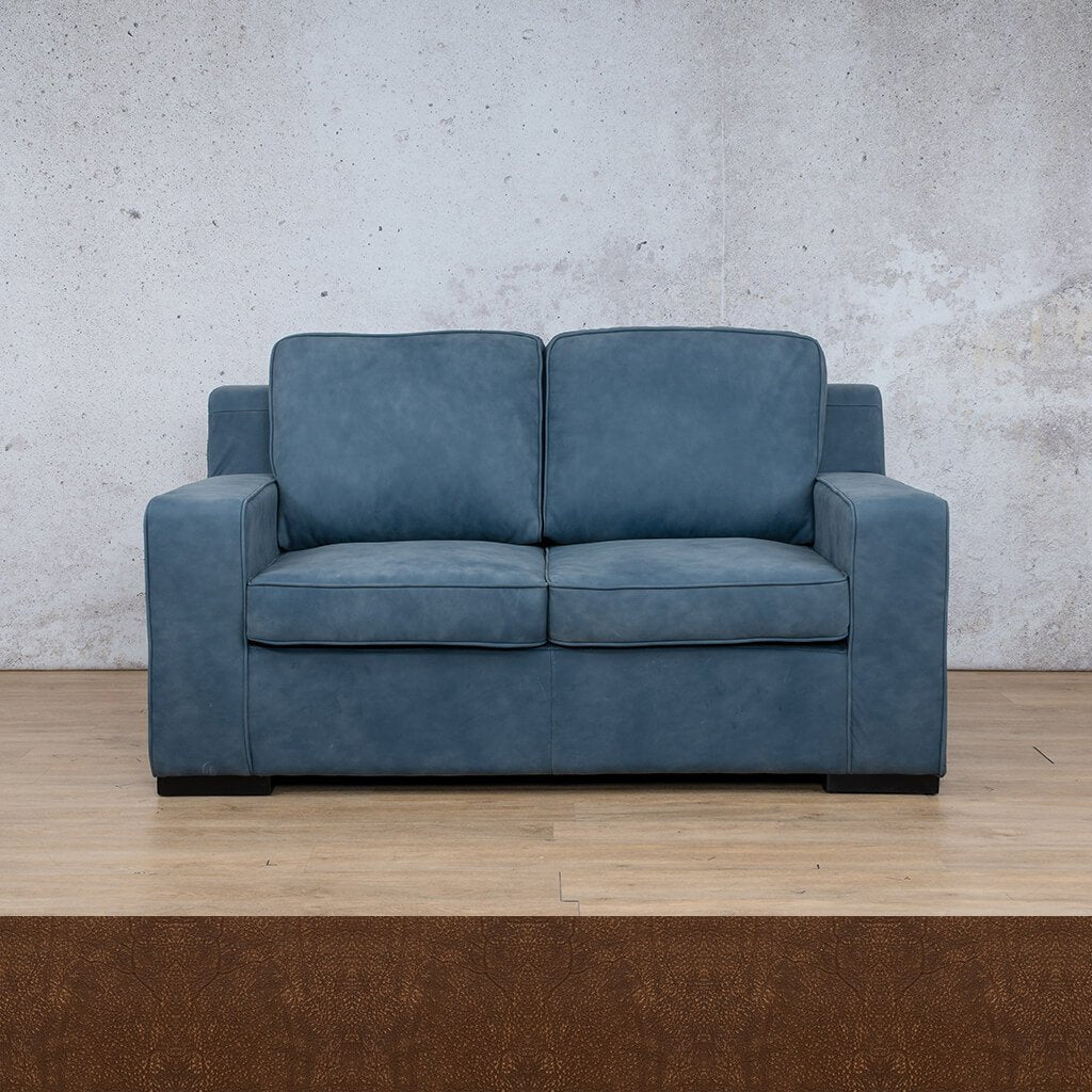 Arizona Leather Couch | 2 seater couch | Buffed Fudge | Couches for Sale | Leather Gallery Couches