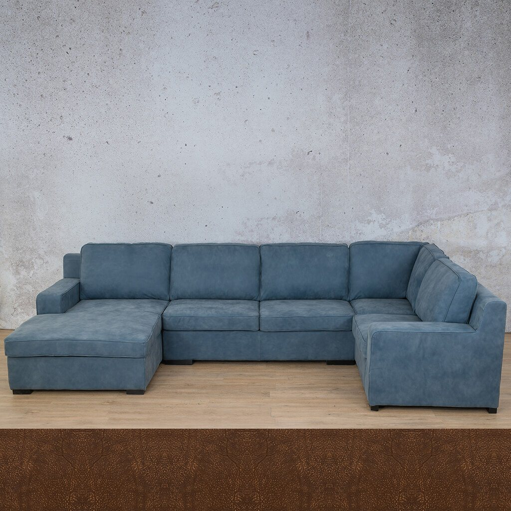 Arizona Leather U-Sofa Chaise Sectional - LHF