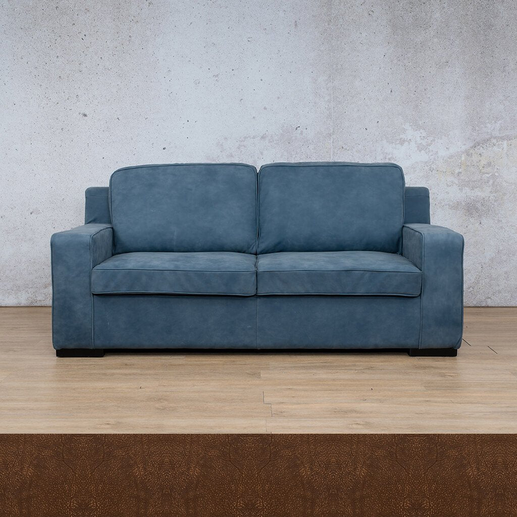 Arizona Leather Couch | 3 seater couch | Buffed Fudge | Couches for Sale | Leather Gallery Couches