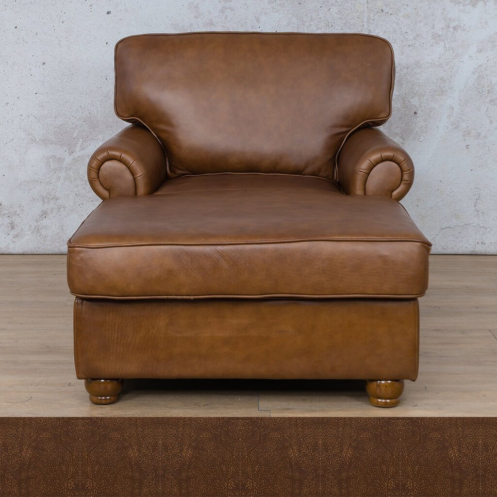 Salisbury Leather Corner Couch | 2 Arm Chaise | Buffed Fudge | Couches For Sale | Leather Gallery Couches