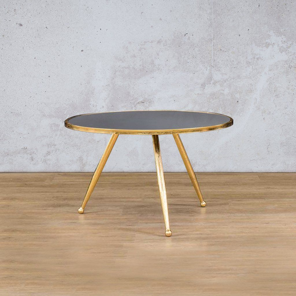 Coffee Table Gold | Leather Gallery