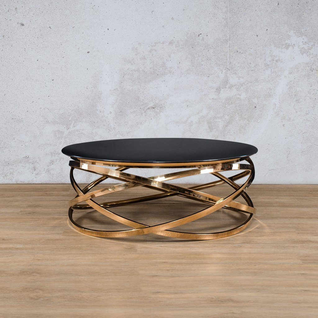 Crystal Coffee Table | Rose Gold | Leather Gallery