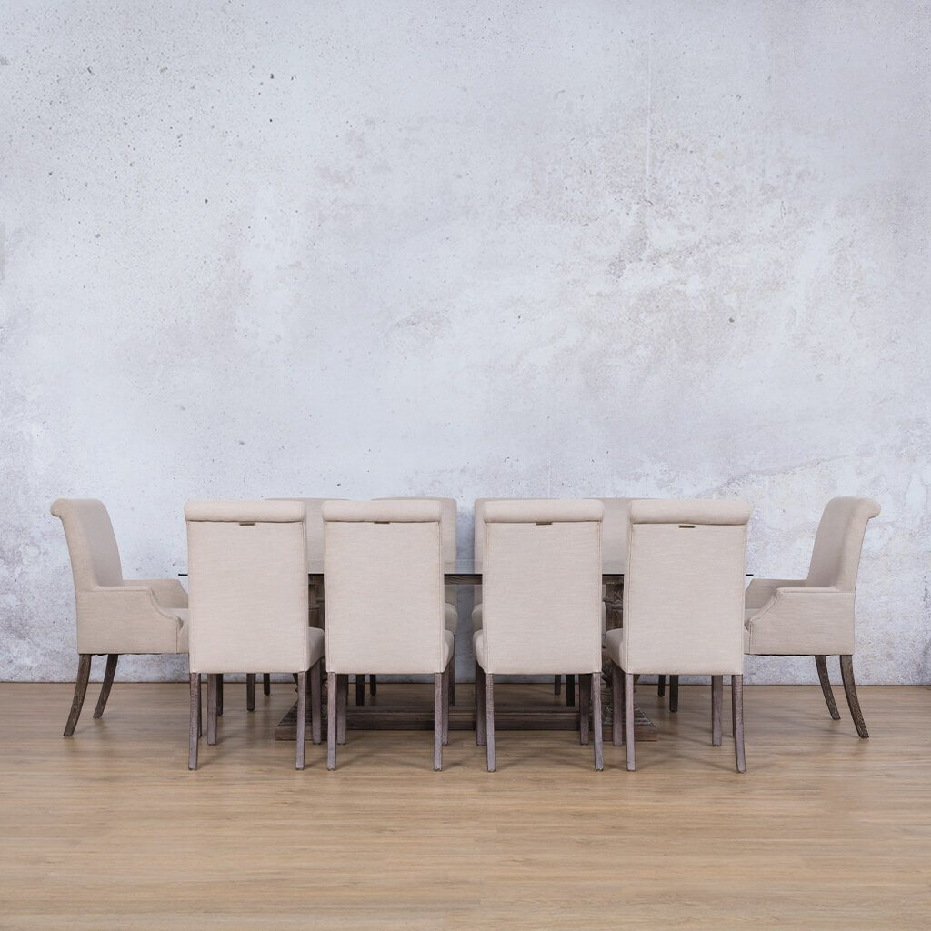 Charlotte Glass Top & Baron 10 Seater Dining Set