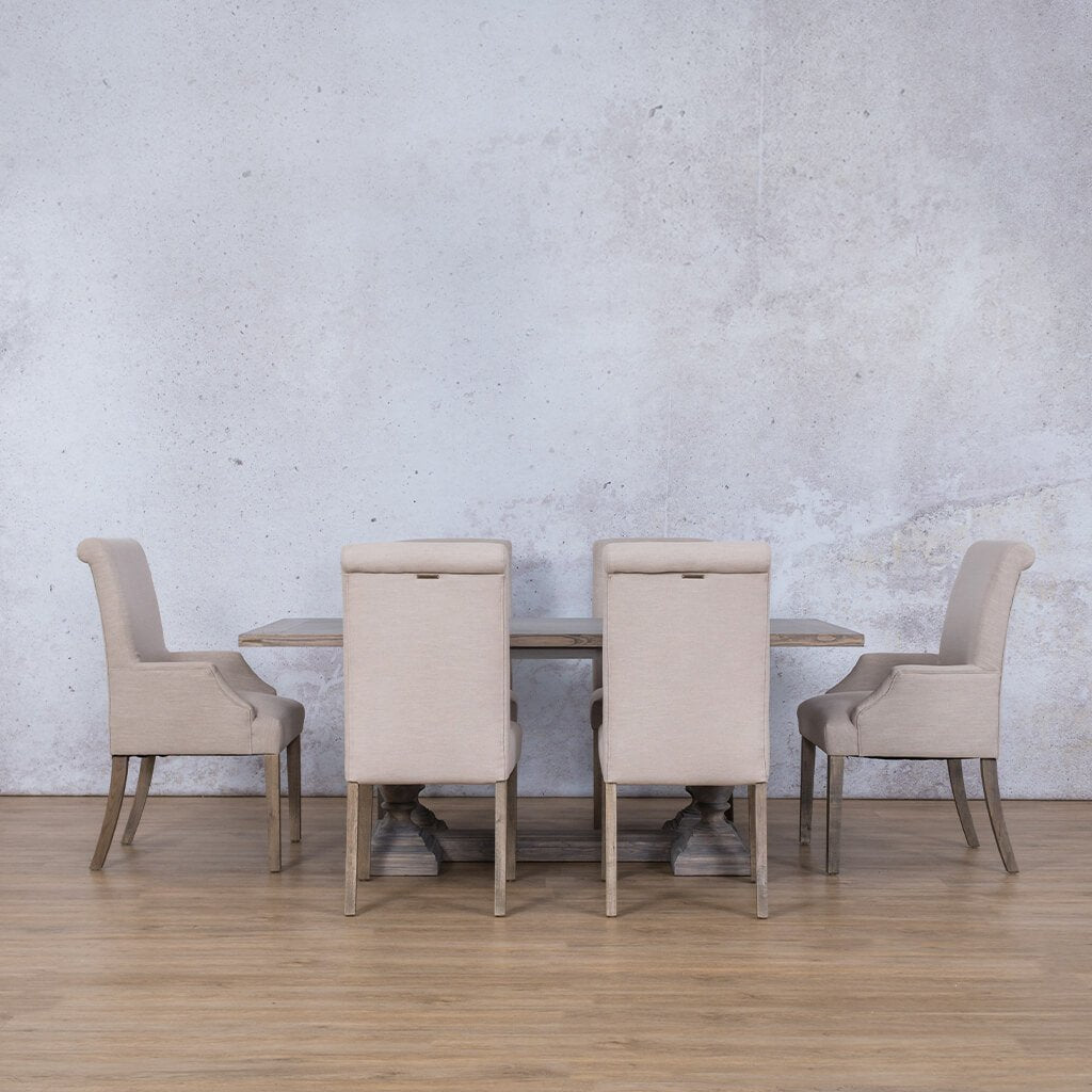 Charlotte Wood Top & Baron 6 Seater Dining Set