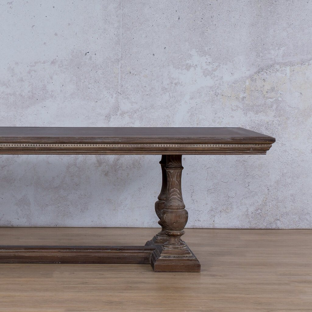 Charlotte Fluted Wood Dining Table | 2.4m | 8 or 10 Seater | Leather Gallery