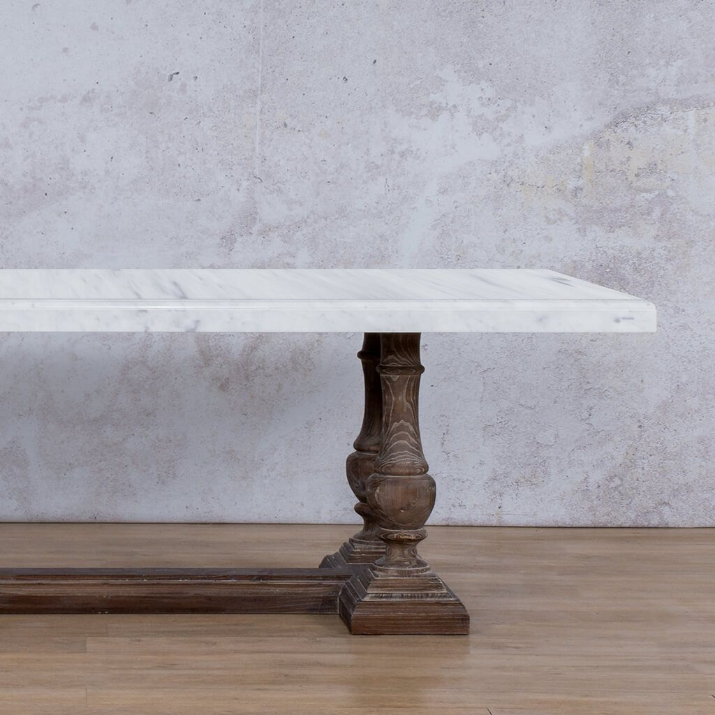 Charlotte Marble Dining Table | 2.4m | 8 or 10 Seater | Leather Gallery