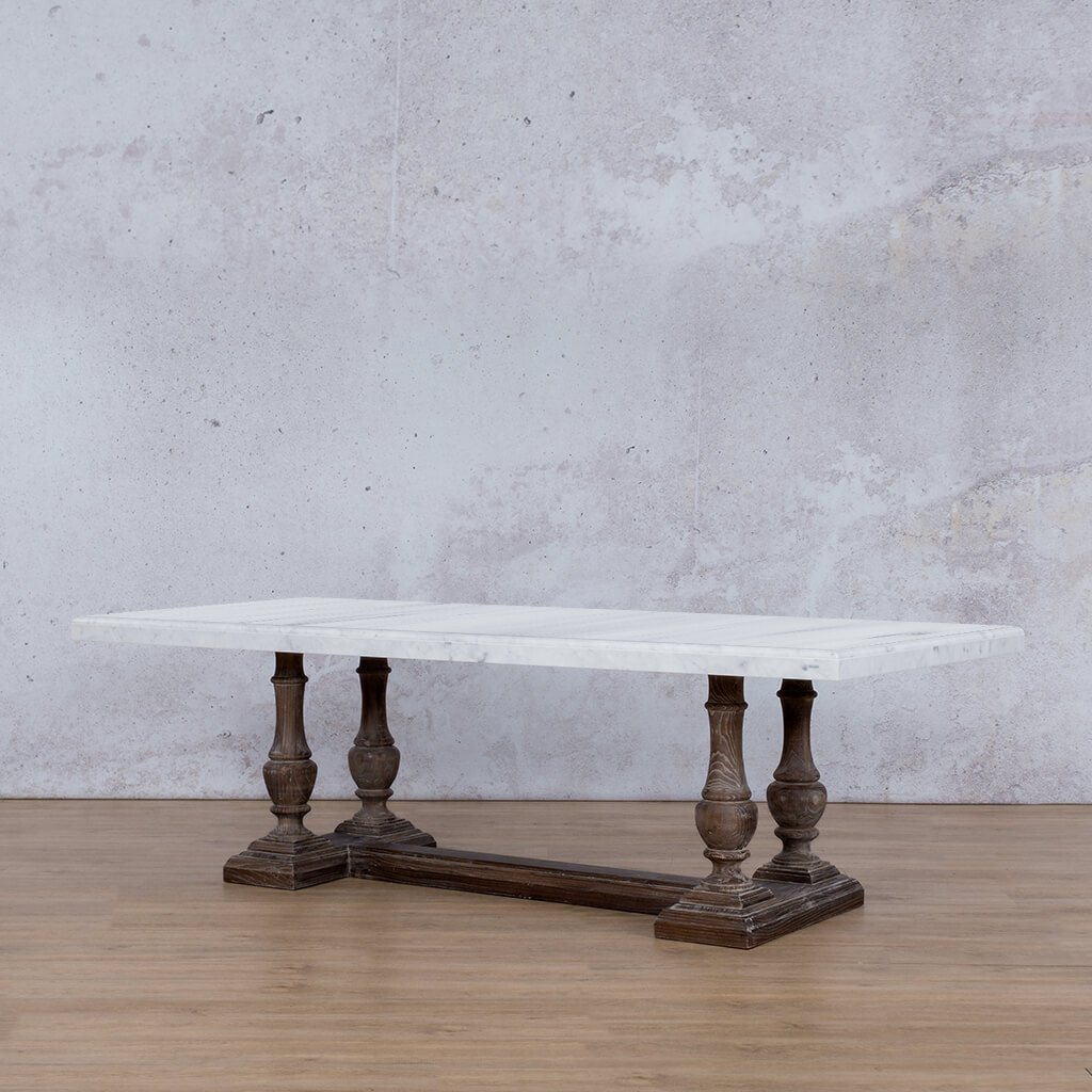 Charlotte Marble Dining Table - 2.4m - 8 or 10 Seater