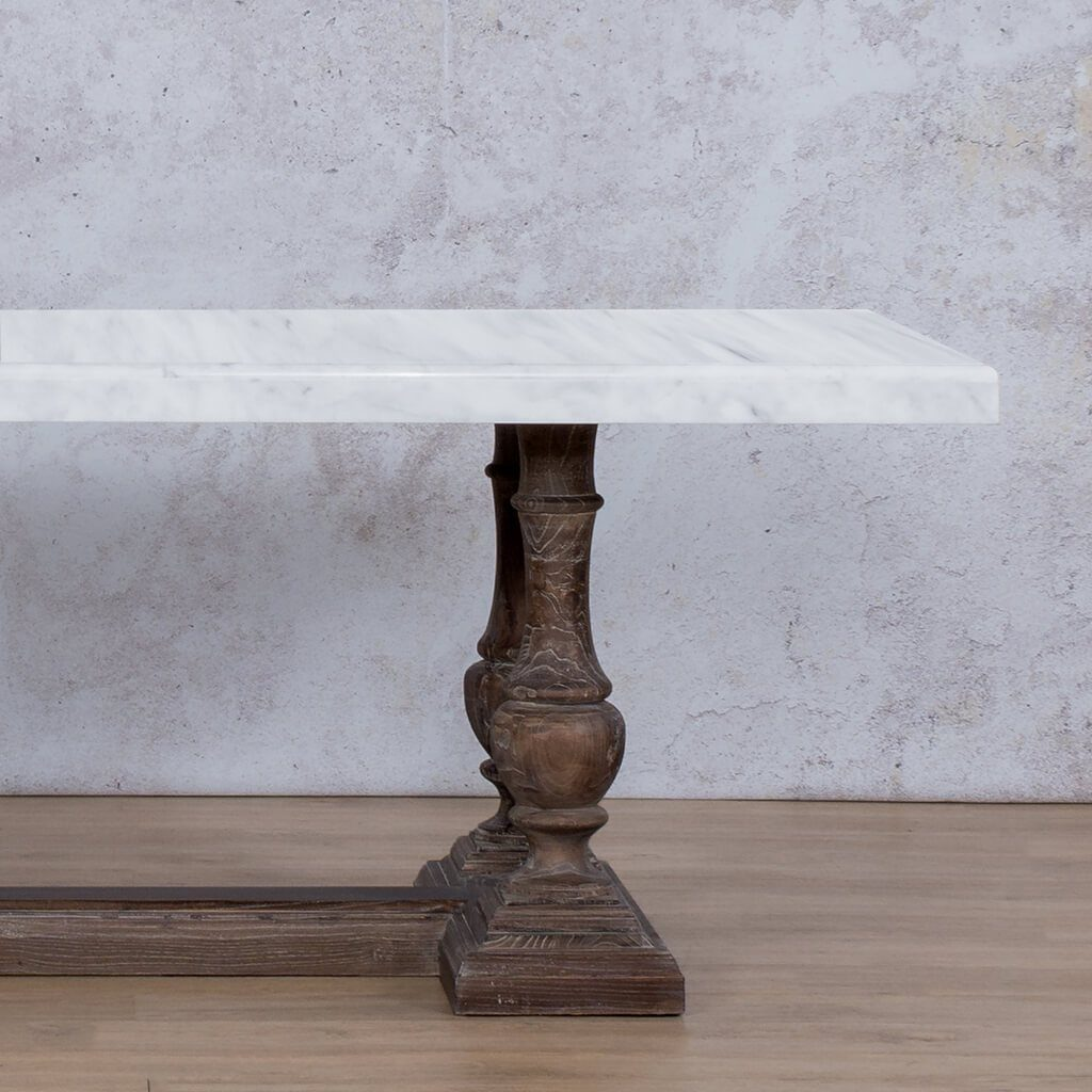 Charlotte Marble Dining Table | 1.9m | 6 Seater | Leather Gallery