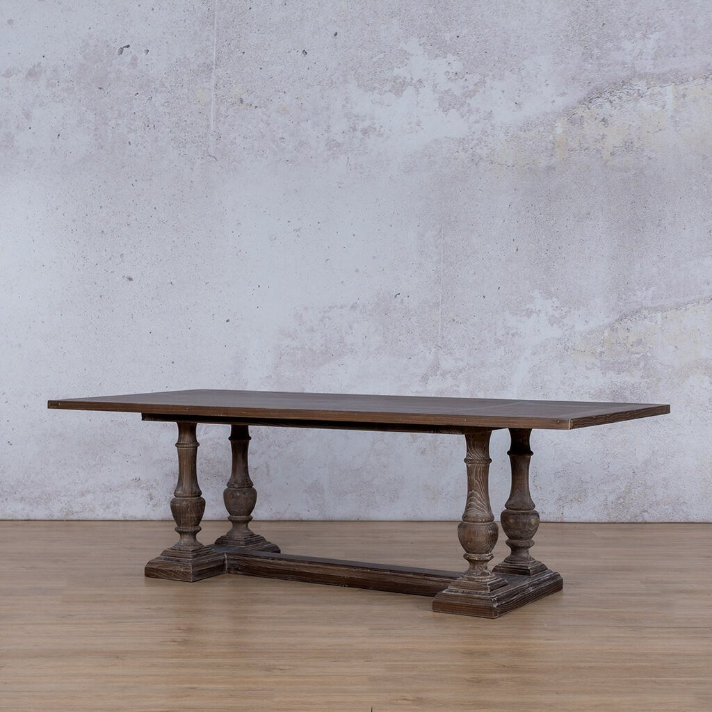Charlotte Wood Dining Table - 2.4m - 8 or 10 Seater