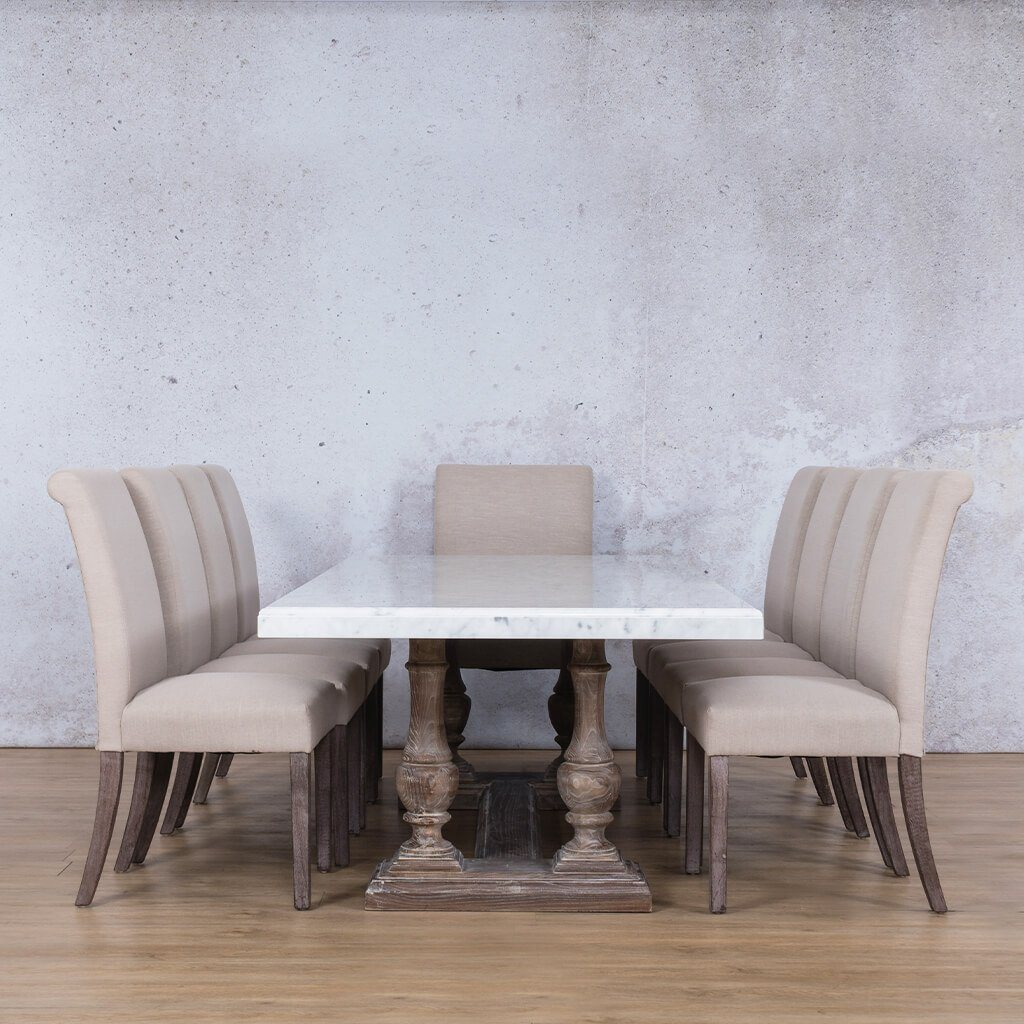 Charlotte Marble Top & Baron 10 Seater Dining Set
