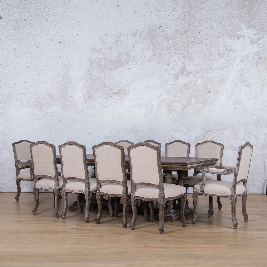 Charlotte Fluted Wood Top & Duke 10 Seater Dining Set