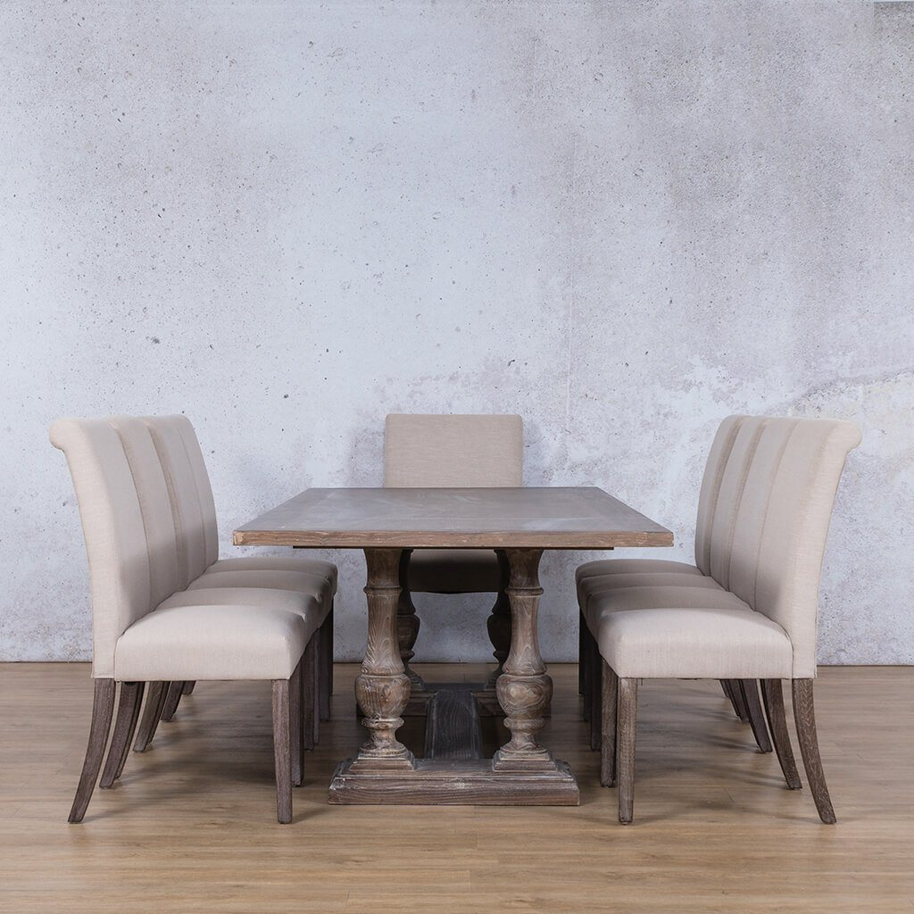 Charlotte Wood Top & Baron 10 Seater Dining Set