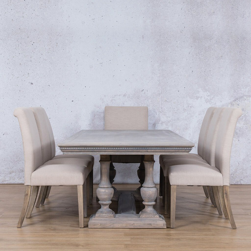 Charlotte Fluted Wood Top & Baron 8 Seater Dining Set