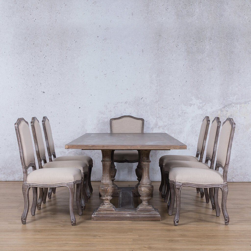 Charlotte Wood Top & Duke 8 Seater Dining Set