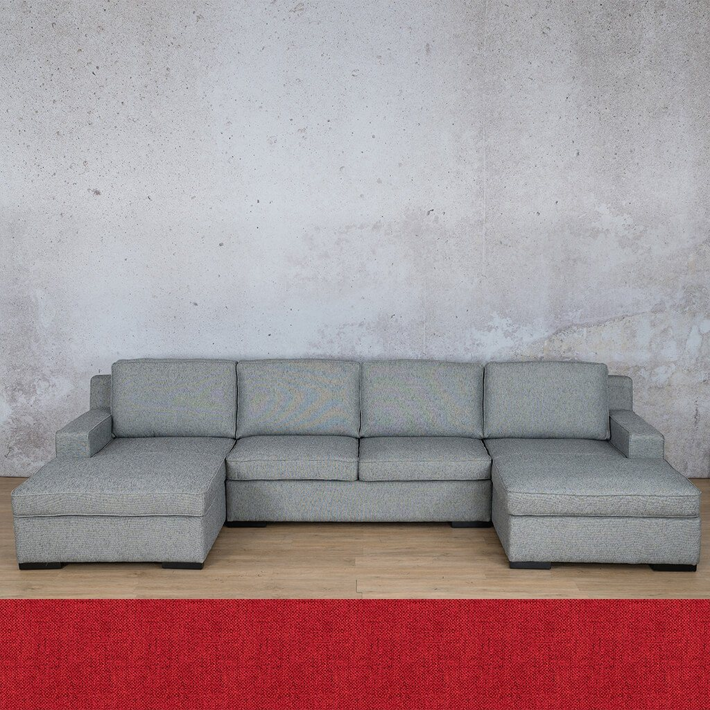 Arizona Fabric Corner Couch | U-Chaise Sectional | Delicious Cherry | Couches For Sale | Leather Gallery Couches