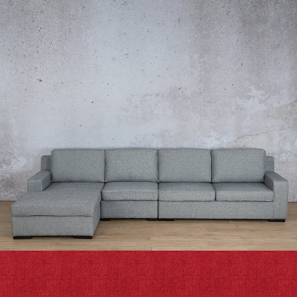 Arizona Fabric Corner Couch | Chaise Modular Sectional-LHF | Delicious Cherry | Couches For Sale | Leather Gallery Couches
