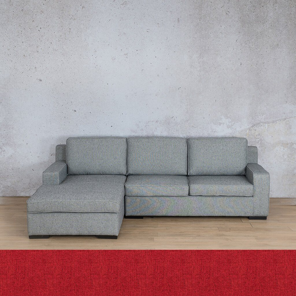 Arizona Fabric Corner Couch | Sofa Sectional-LHF | Delicious Cherry | Couches For Sale | Leather Gallery Couches