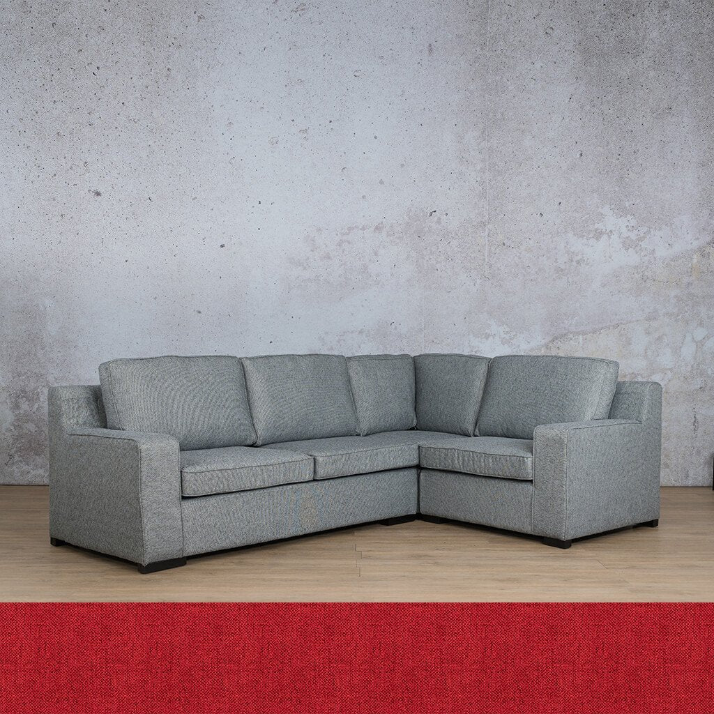 Arizona Fabric Couch | L-Sectional 4 Seater RHF | Delicious Cherry | Couches For Sale | Leather Gallery Couches