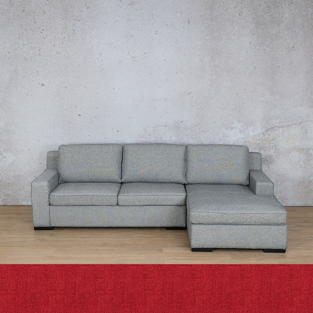 Arizona Fabric Corner Couch | Sofa Sectional-RHF | Delicious Cherry | Couches For Sale | Leather Gallery Couches