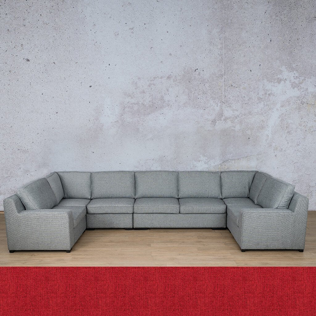 Arizona Fabric Corner Couch | Modular U-Sofa Sectional | Delicious Cherry | Couches For Sale | Leather Gallery Couches