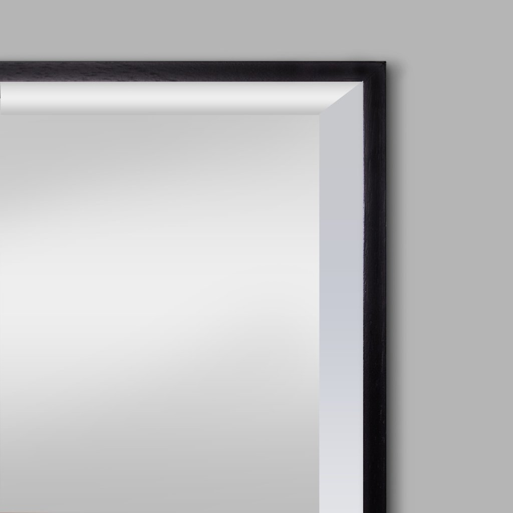 Nova Natural Wood Mirror Black