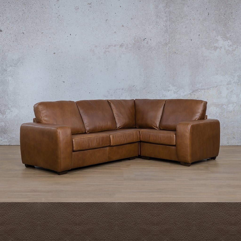 Starnford Leather Corner Couch | L-Sectional 4 Seater-RHF | Country Ox Blood | Couches For Sale | Leather Gallery Couches