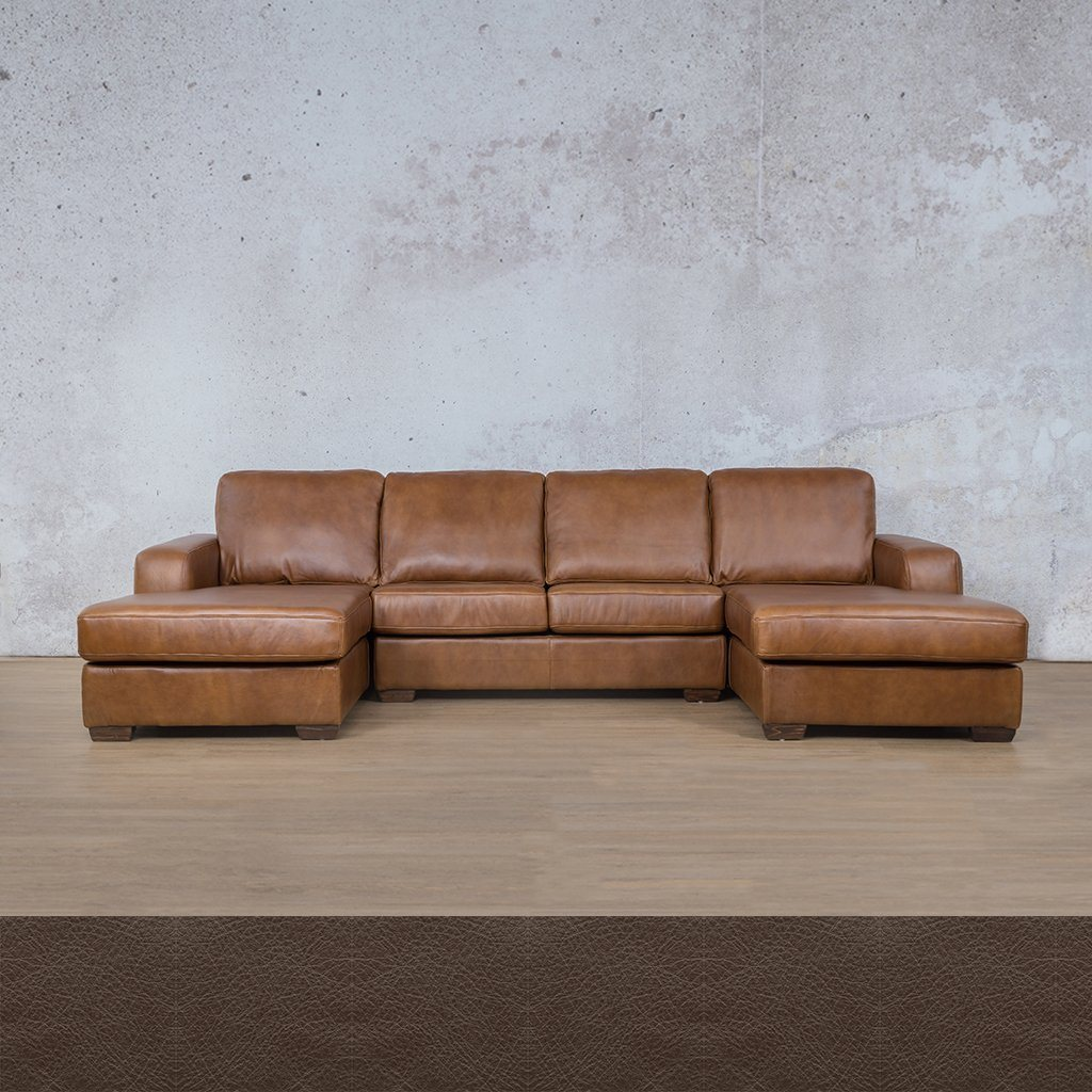 Starnford Leather Corner Couch | U-Chase Couch | Country Ox Blood | Couches For Sale | Leather Gallery Couches